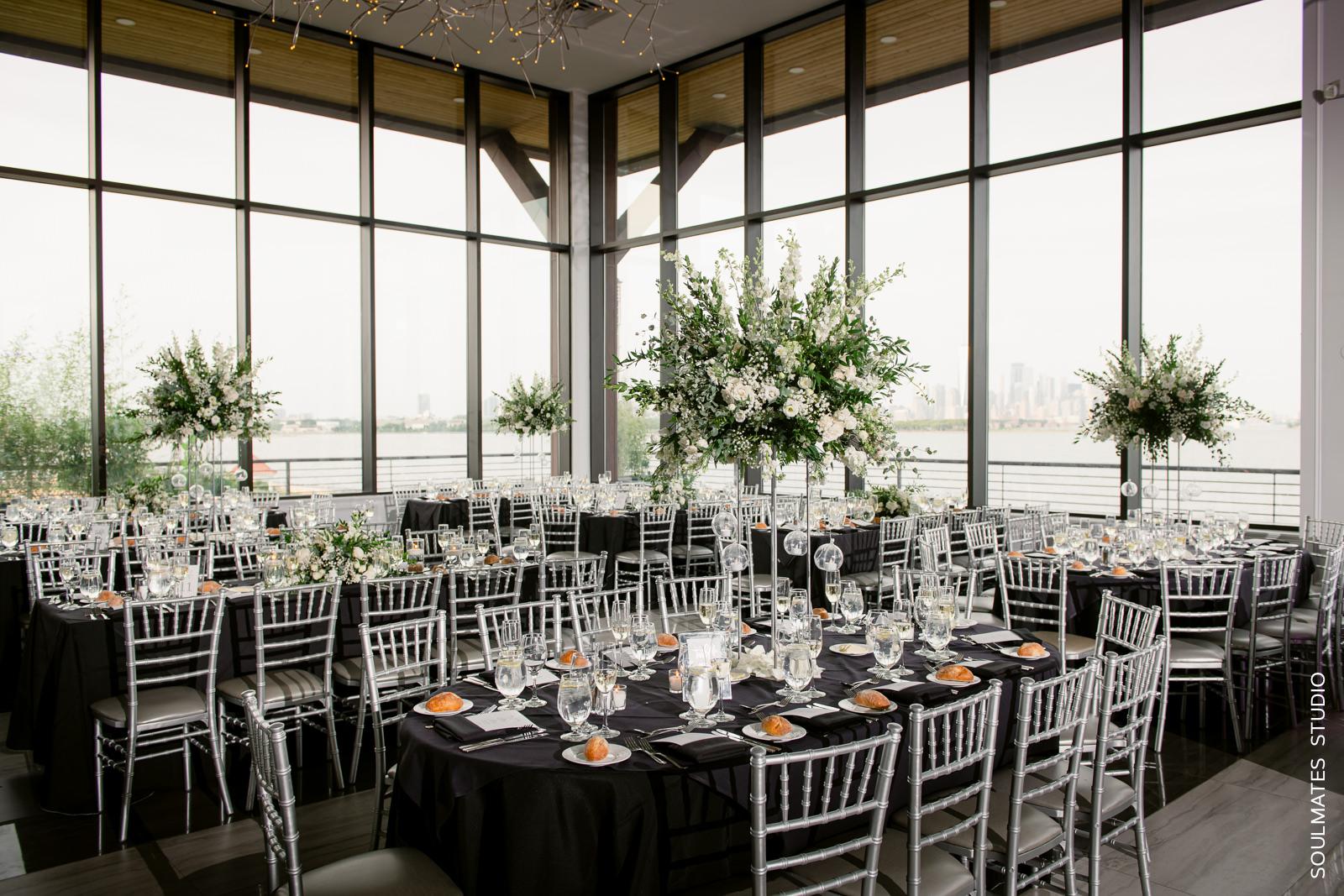 Hudson House wedding reception room decorations