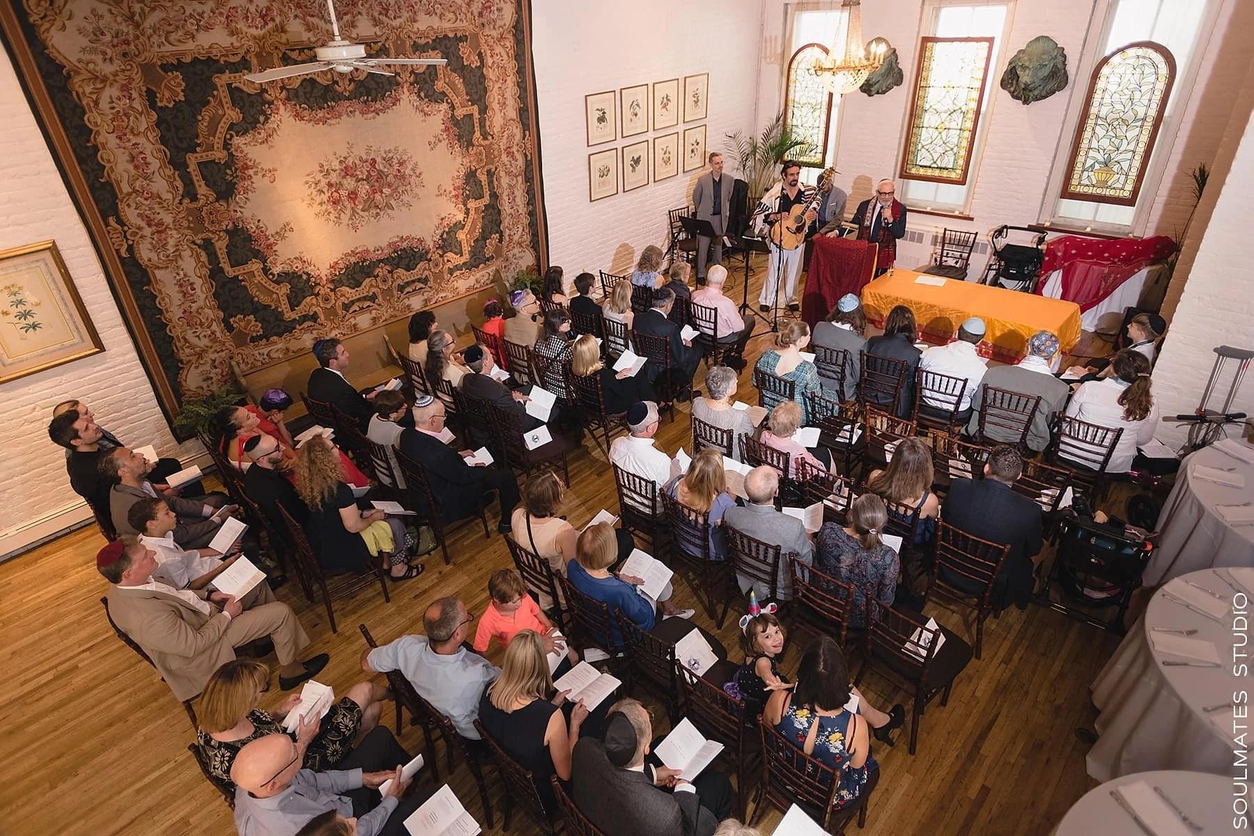 Manhattan Alger house Bar mitzvah ceremony
