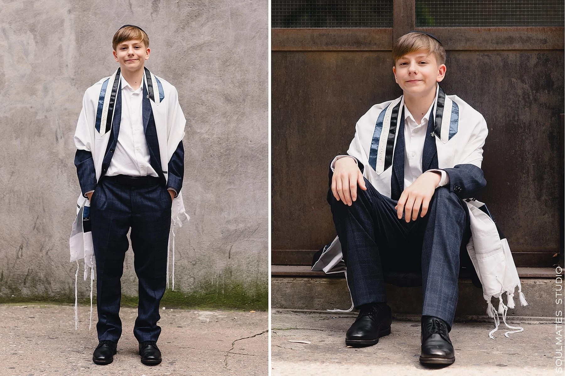 New York Bar mitzvah boy portraits