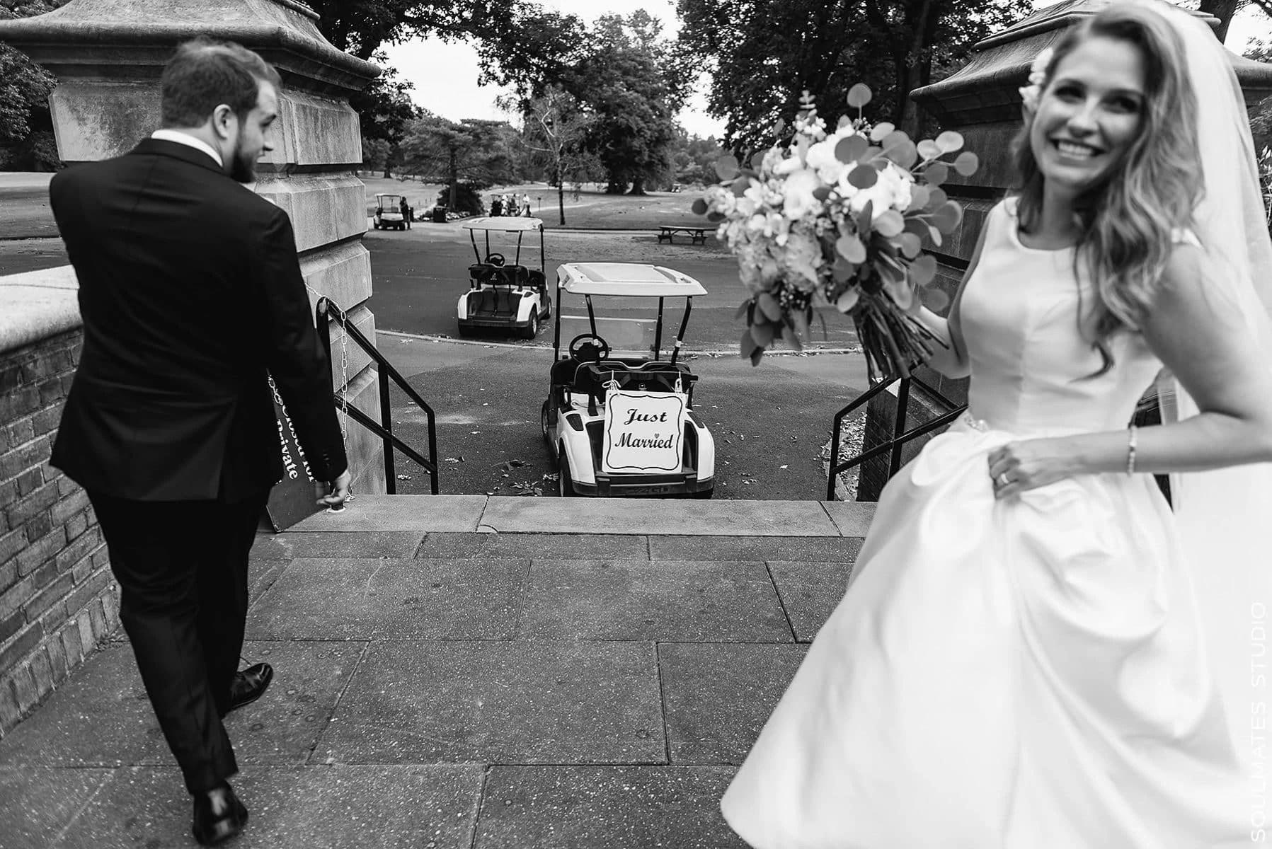 Brooklyn Dyker Beach Golf Course Wedding portrait