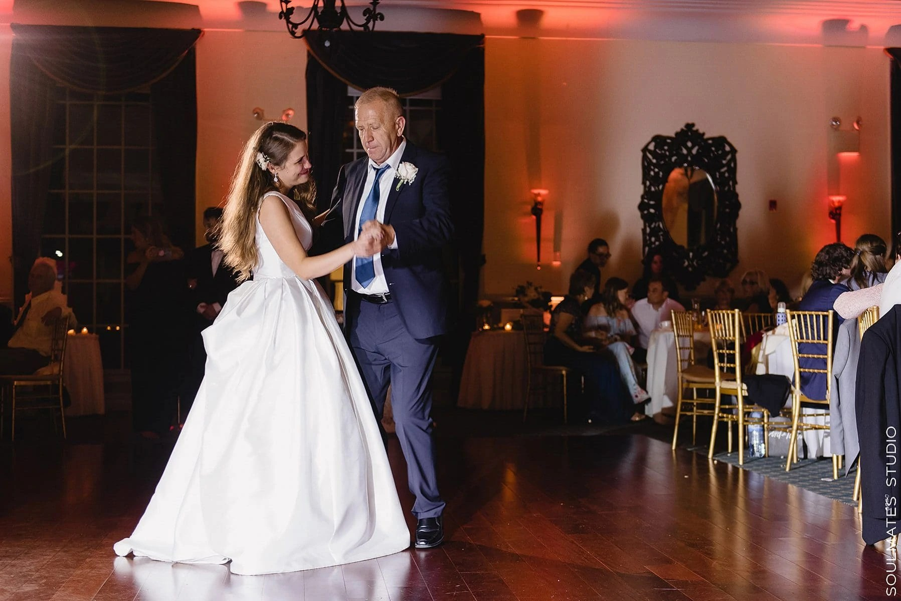 Father daughter dance at Brooklyn Dyker Beach Golf Course Wedding