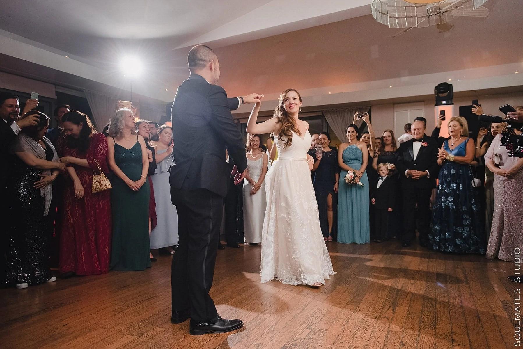 Manhattan Battery Gardens Restaurant Wedding Venue First Dance