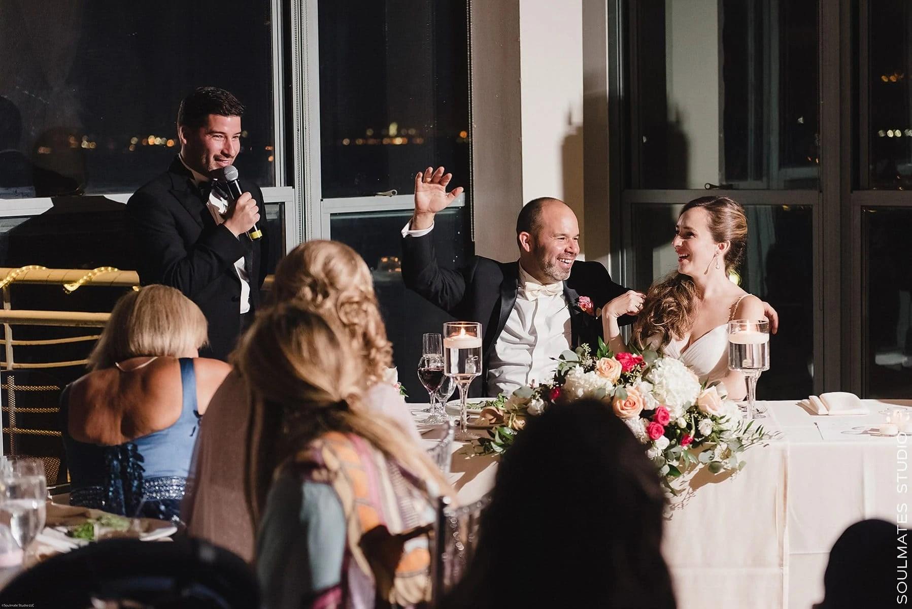 Wedding reception at Battery Gardens Wedding Venue
