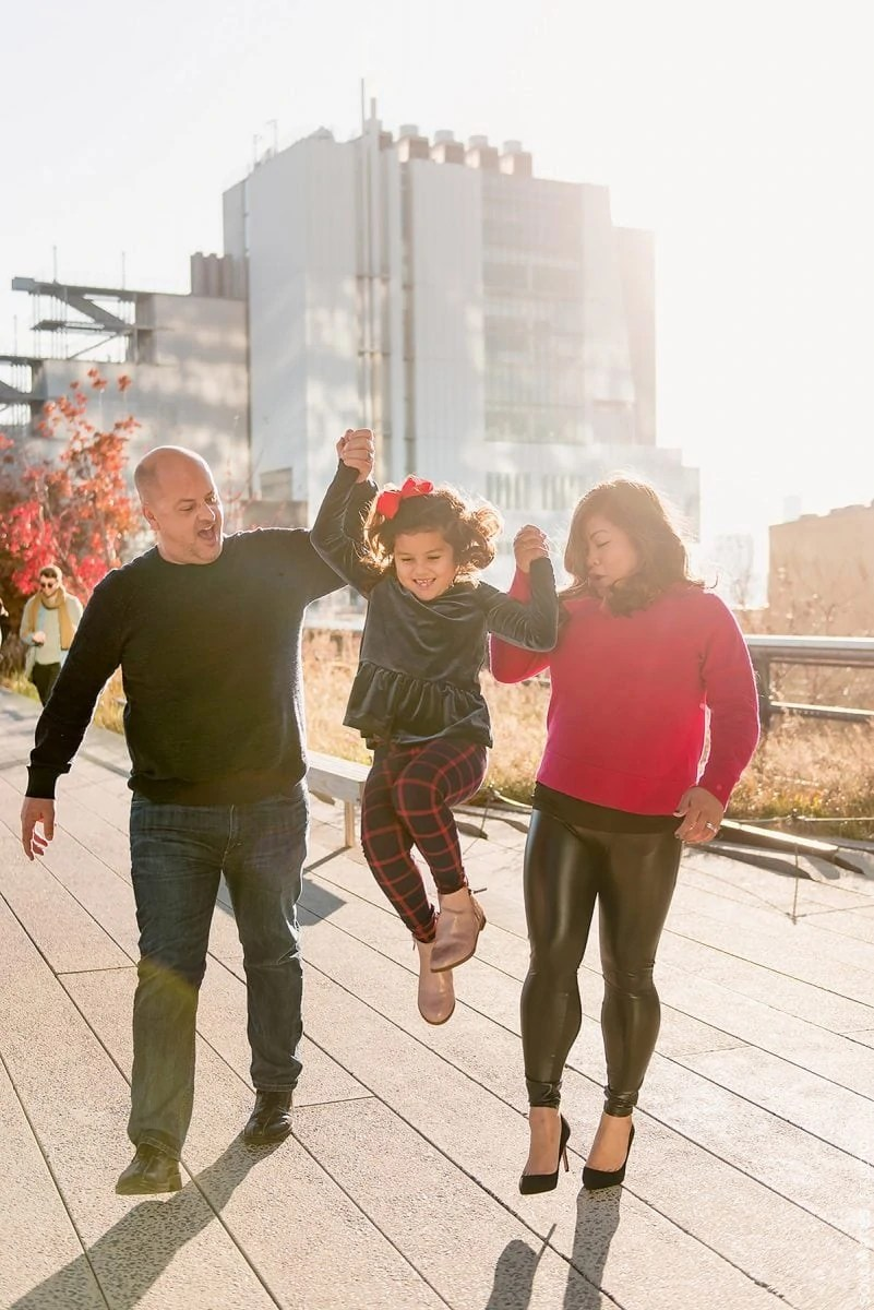 Manhattan High Line Park Family Session