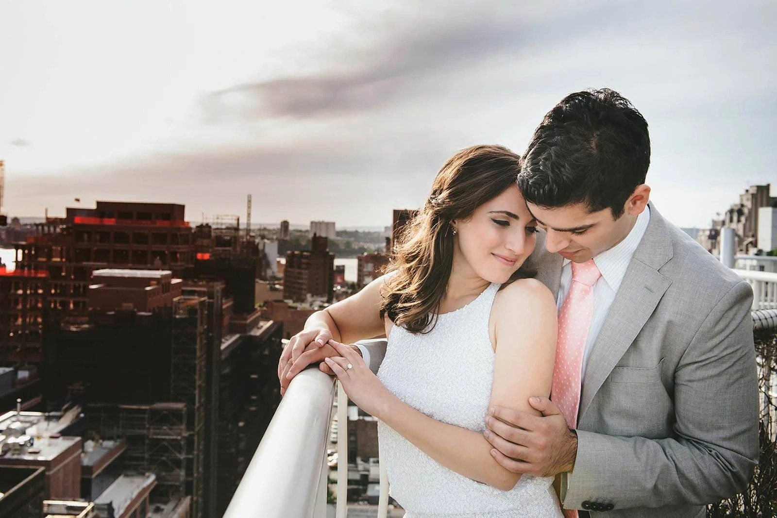 Manhattan Rooftop Engagement