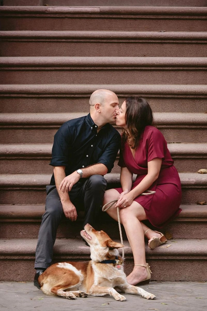 NYC Engagement photos with pets