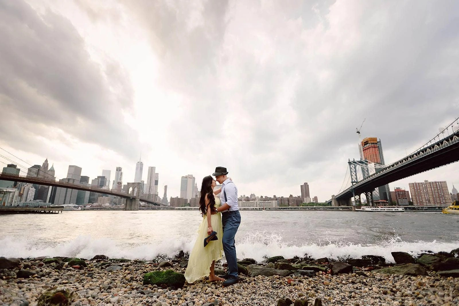 NYC Waterfront Couples shoot