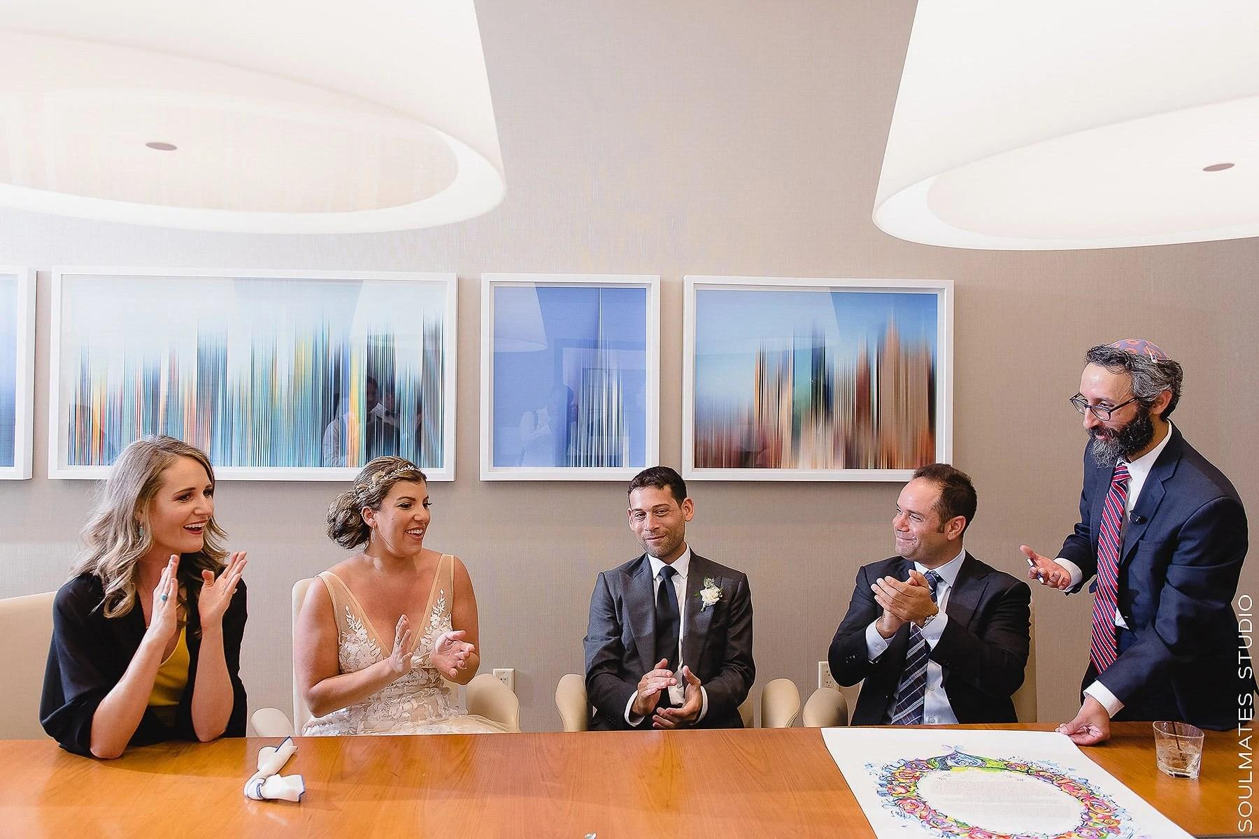 Jewish Wedding Ketubah signing at New Jersey Hyatt Regency