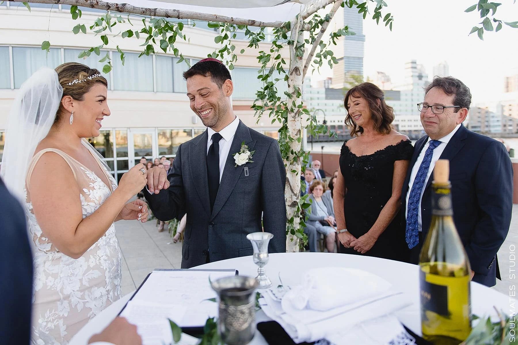 Jersey City Hyatt Regency Jewish Wedding Ceremony