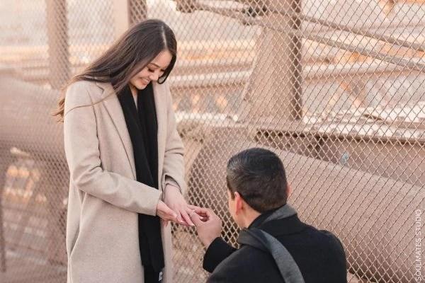 New York Brooklyn Bridge Surprise Marriage Proposal