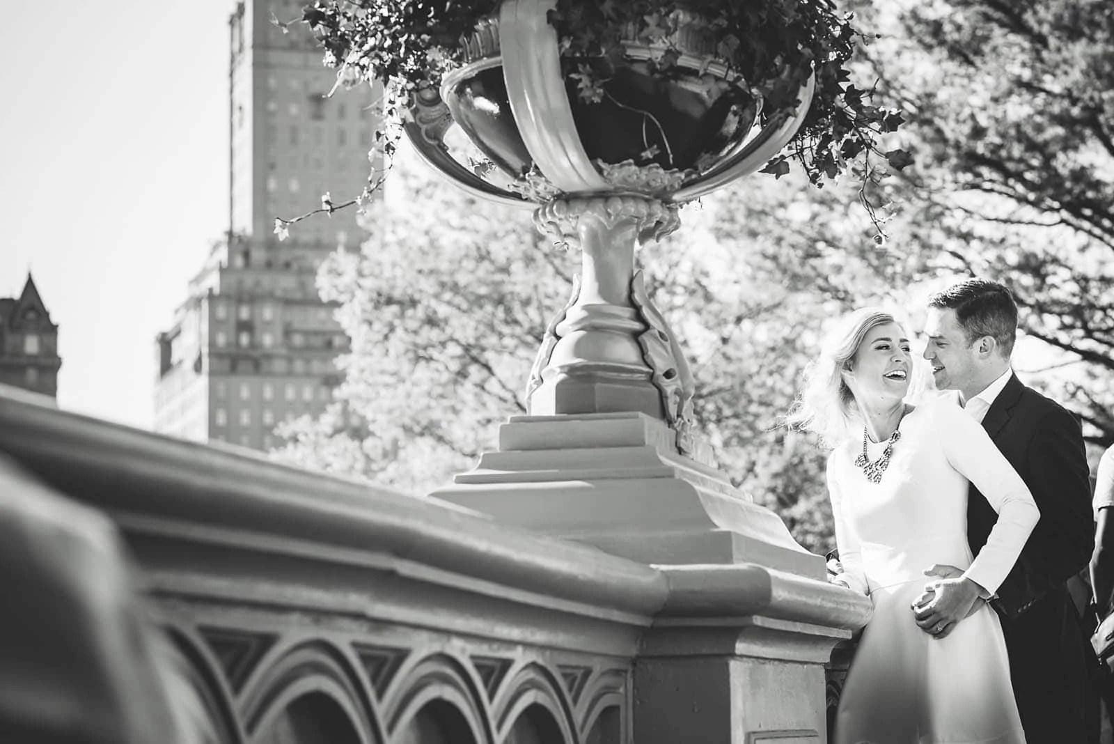 Central Park Playful Engagement Poses
