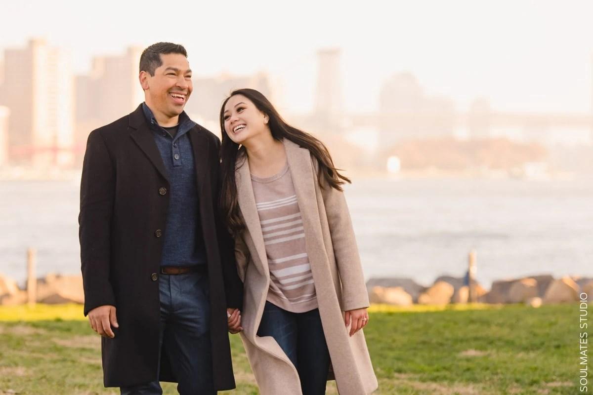 DUMBO Engagement Couple