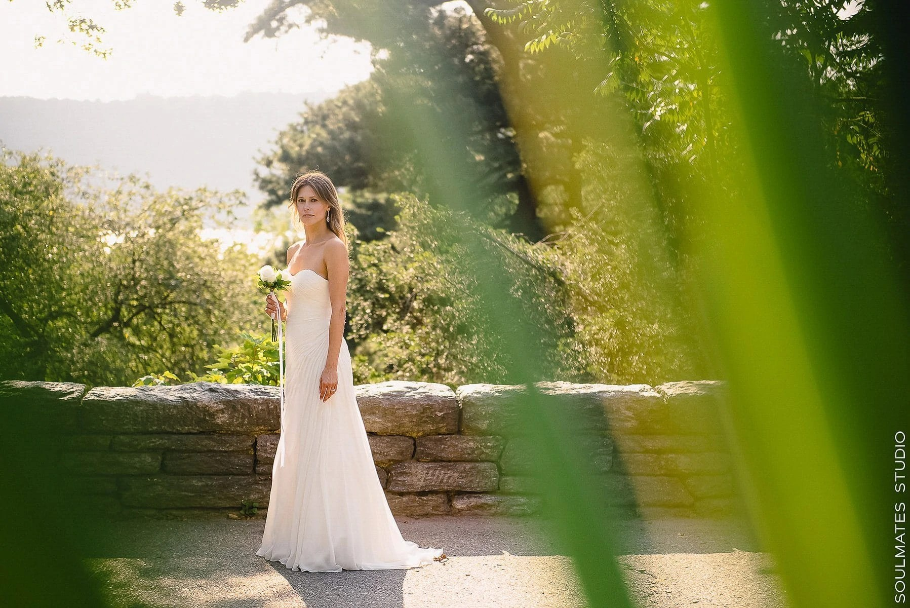 Fort Tryon Park Elopement Bride Wedding Portrait