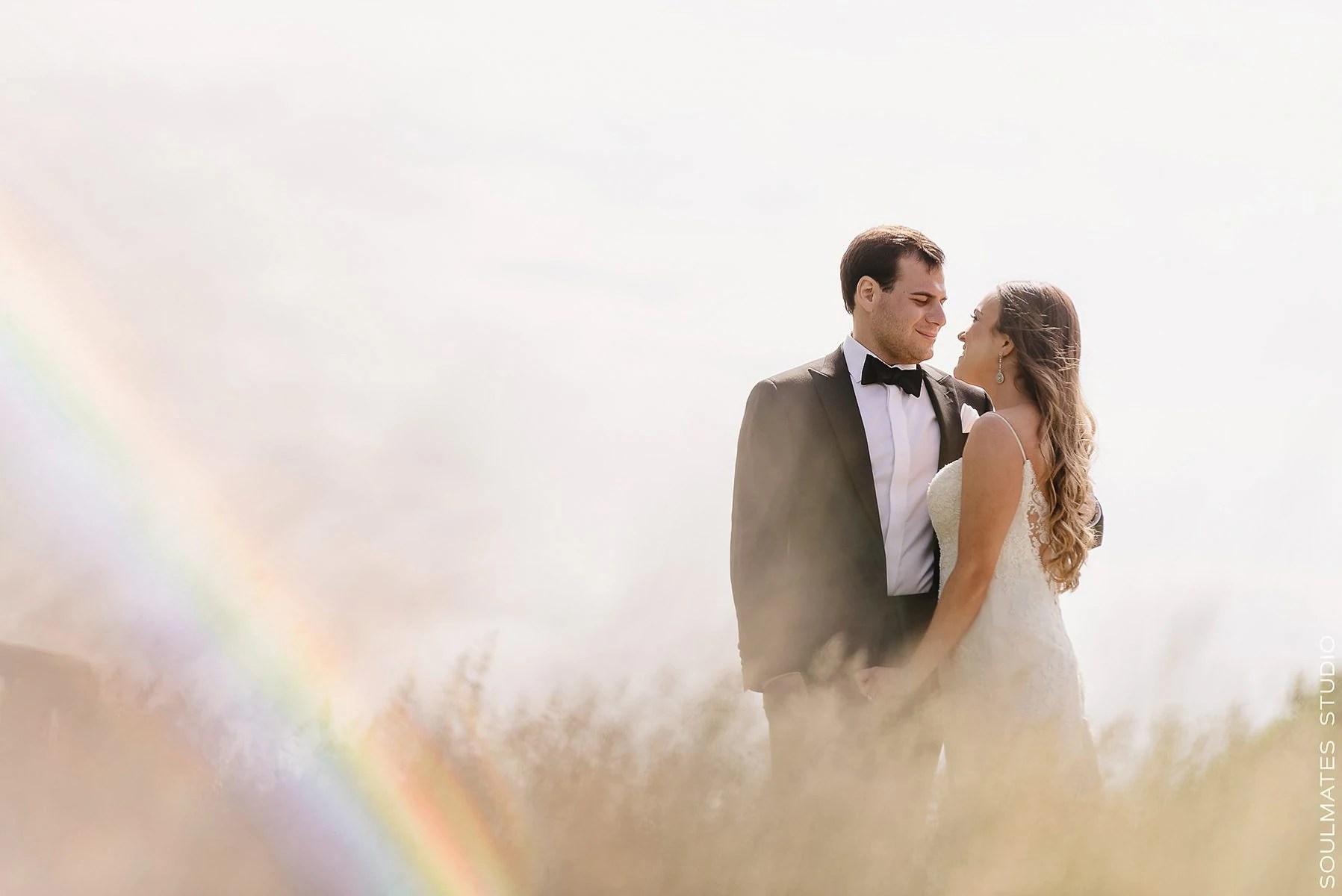Fresh Meadow Country Club Bride and Groom Wedding Portrait