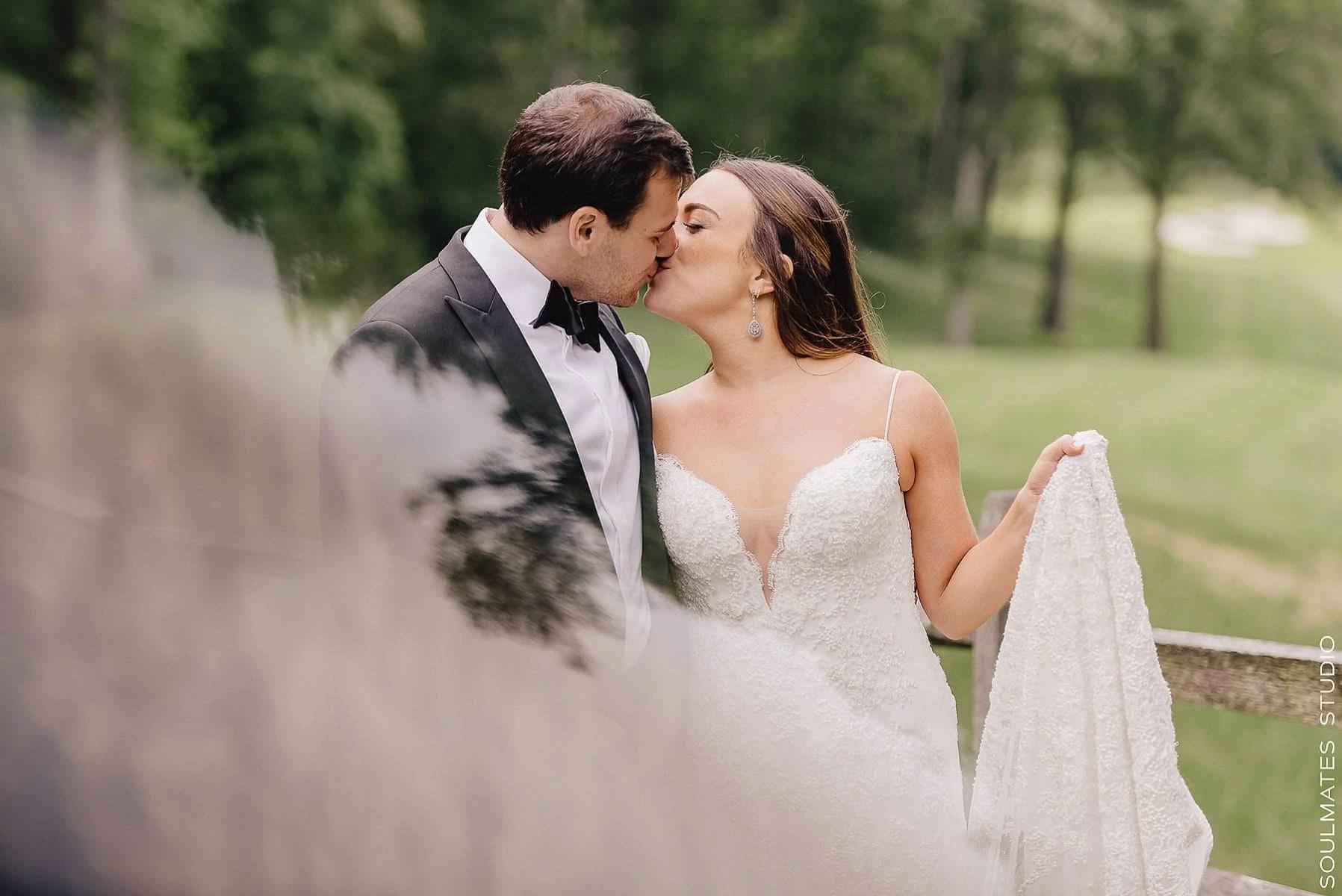 Artsy Wedding Portrait form Fresh Meadow Country Club