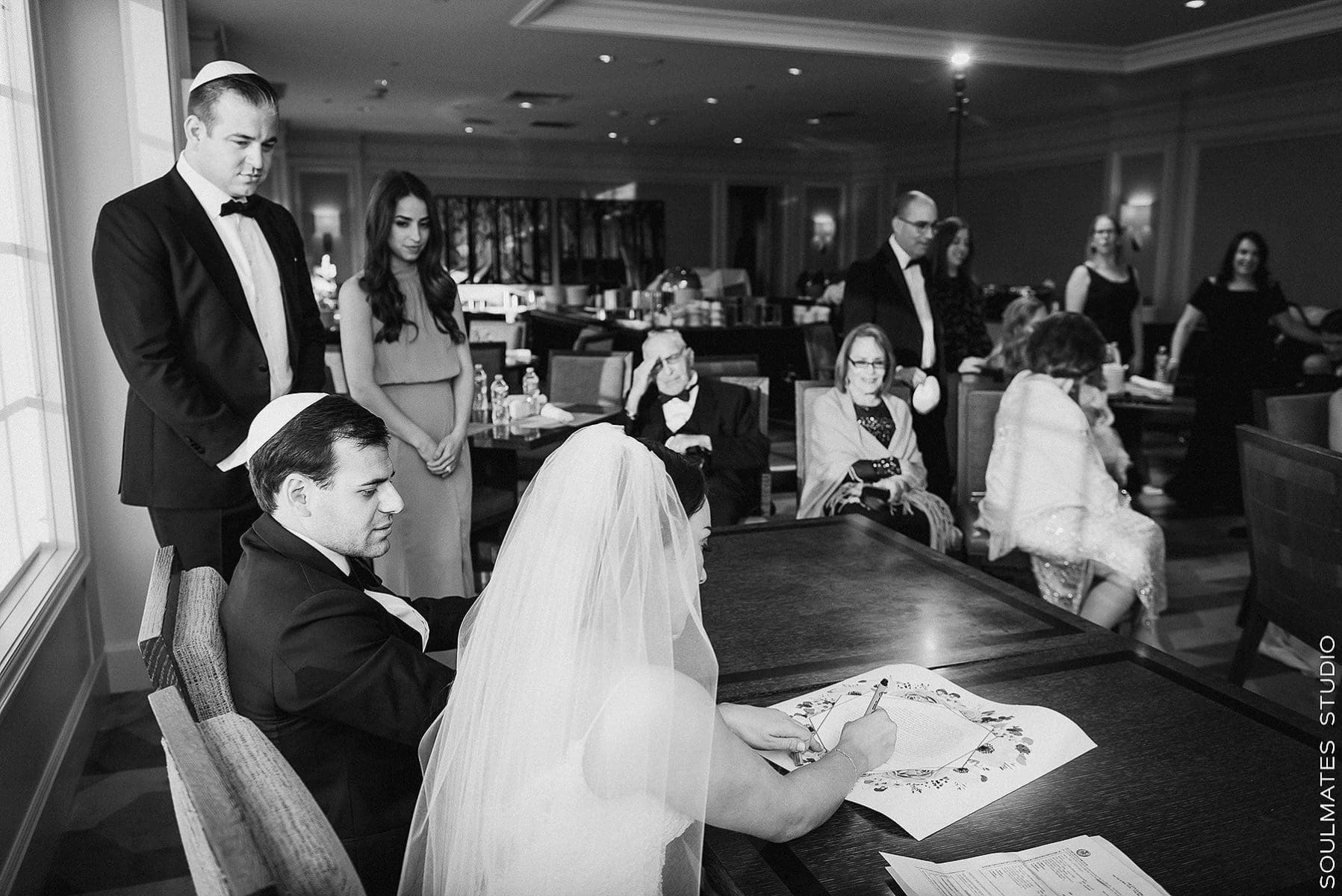 Signing the Ketubah at Fresh Meadow Country Club