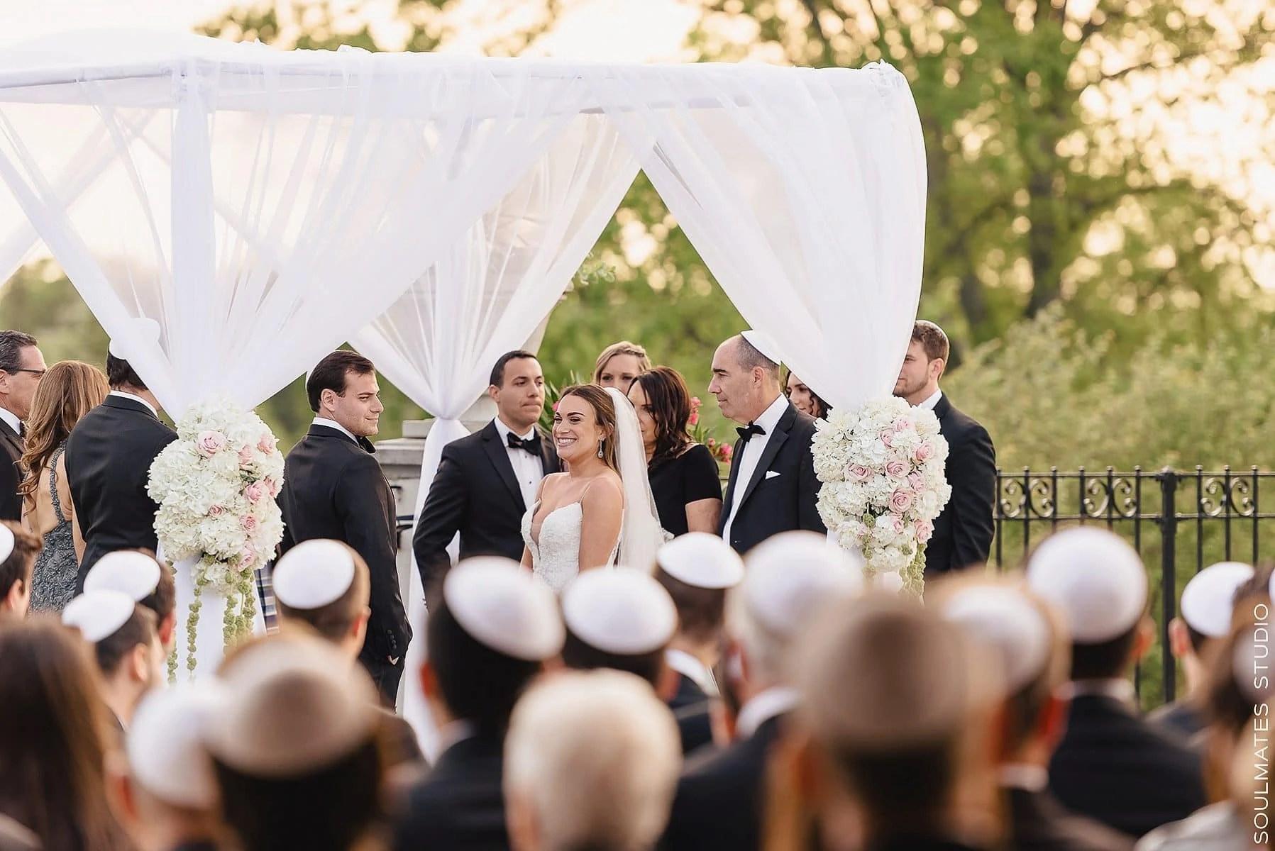 Fresh Meadow Country Club Jewish wedding ceremony