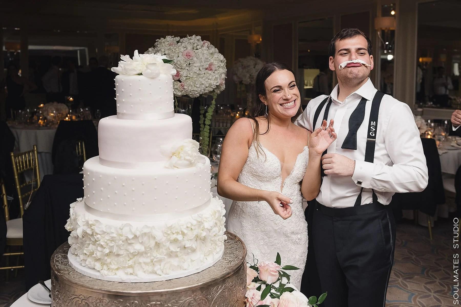 Fresh Meadow Country Club Wedding Cake cutting Ceremony