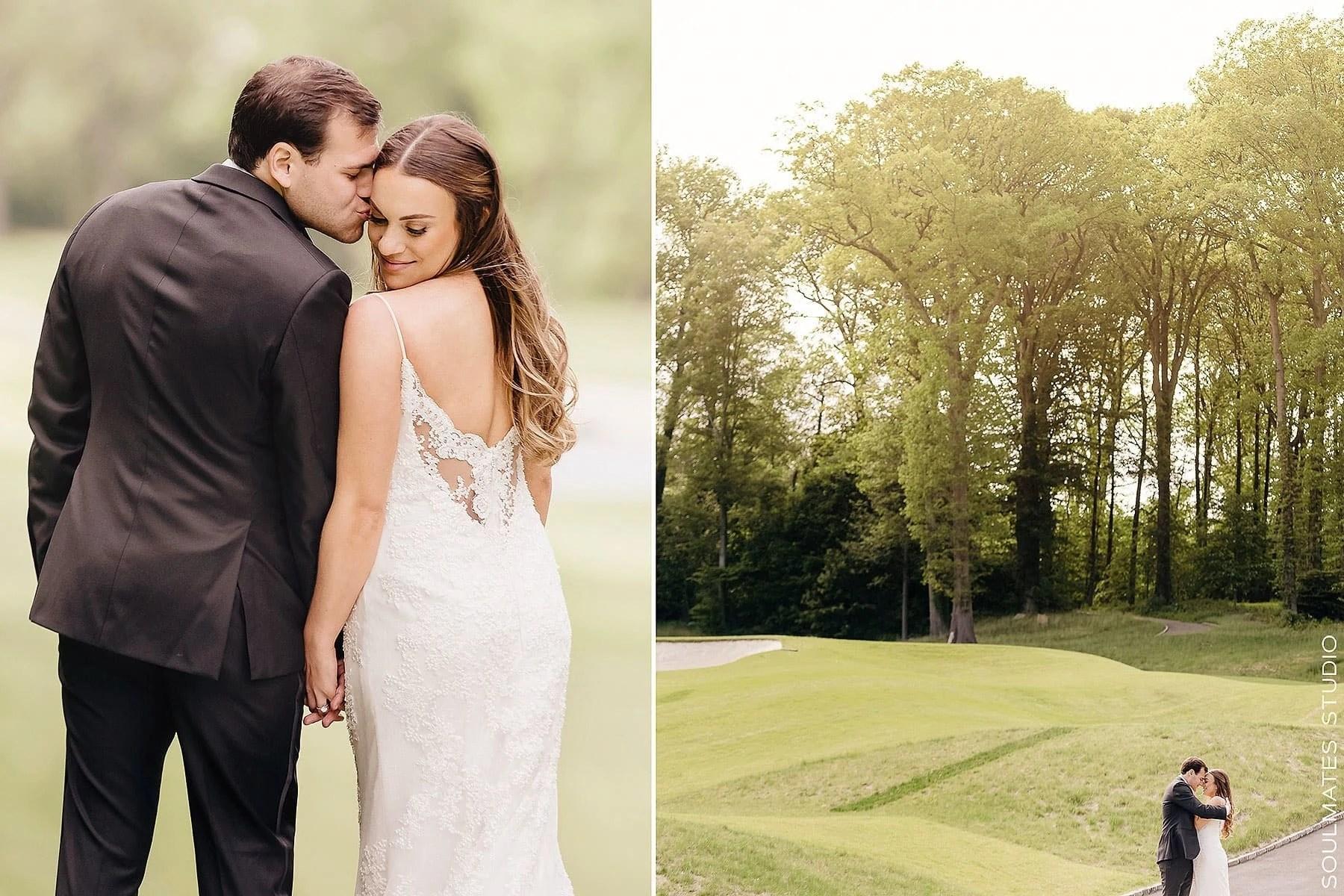 Fresh Meadow Golf Course wedding portraits