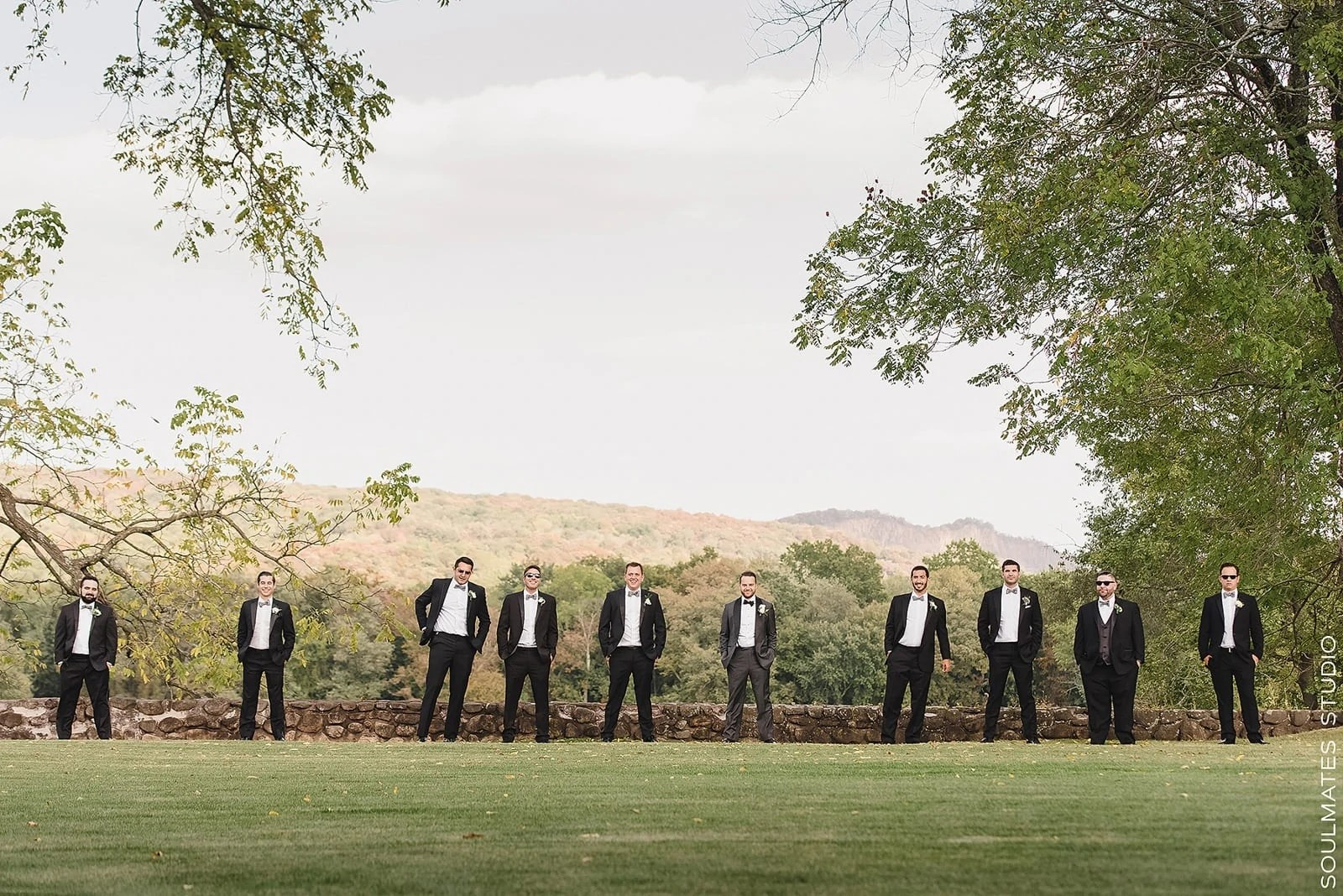 Groomsmen portrait at Paramount Country Club