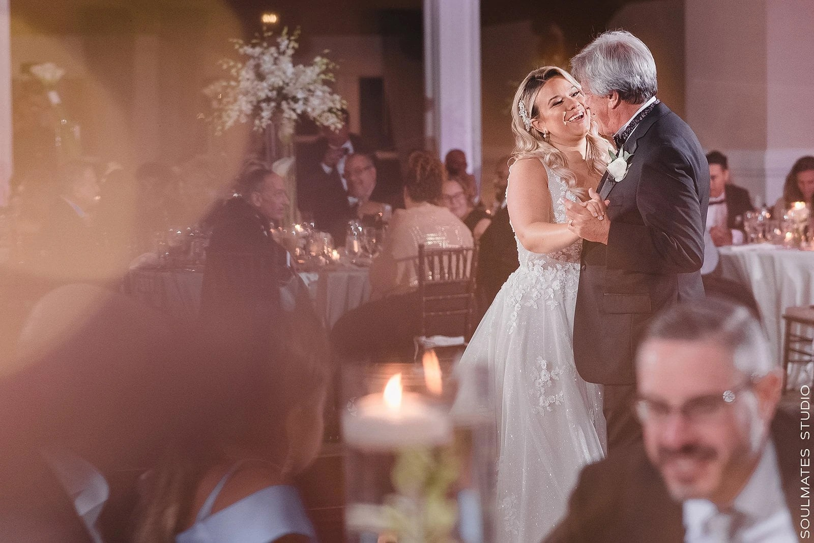 Father Daughter dance at New York Paramount Club Wedding Venue