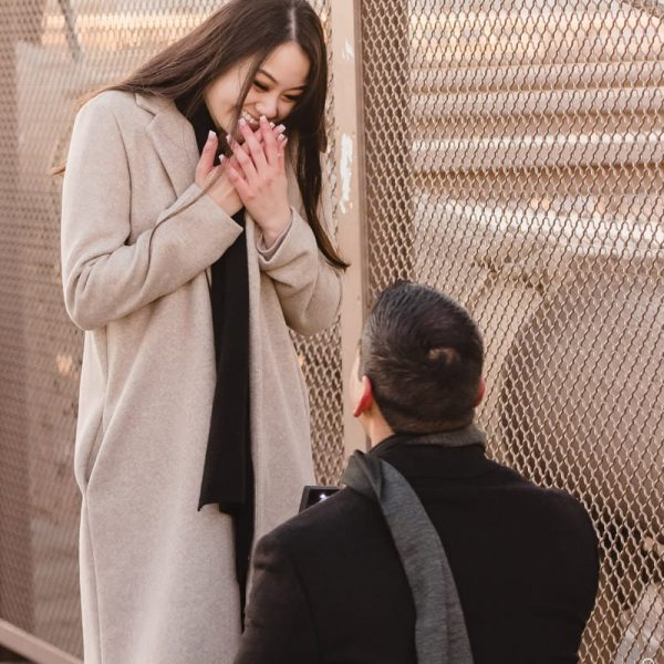 New York Brooklyn Bridge Surprise Proposal