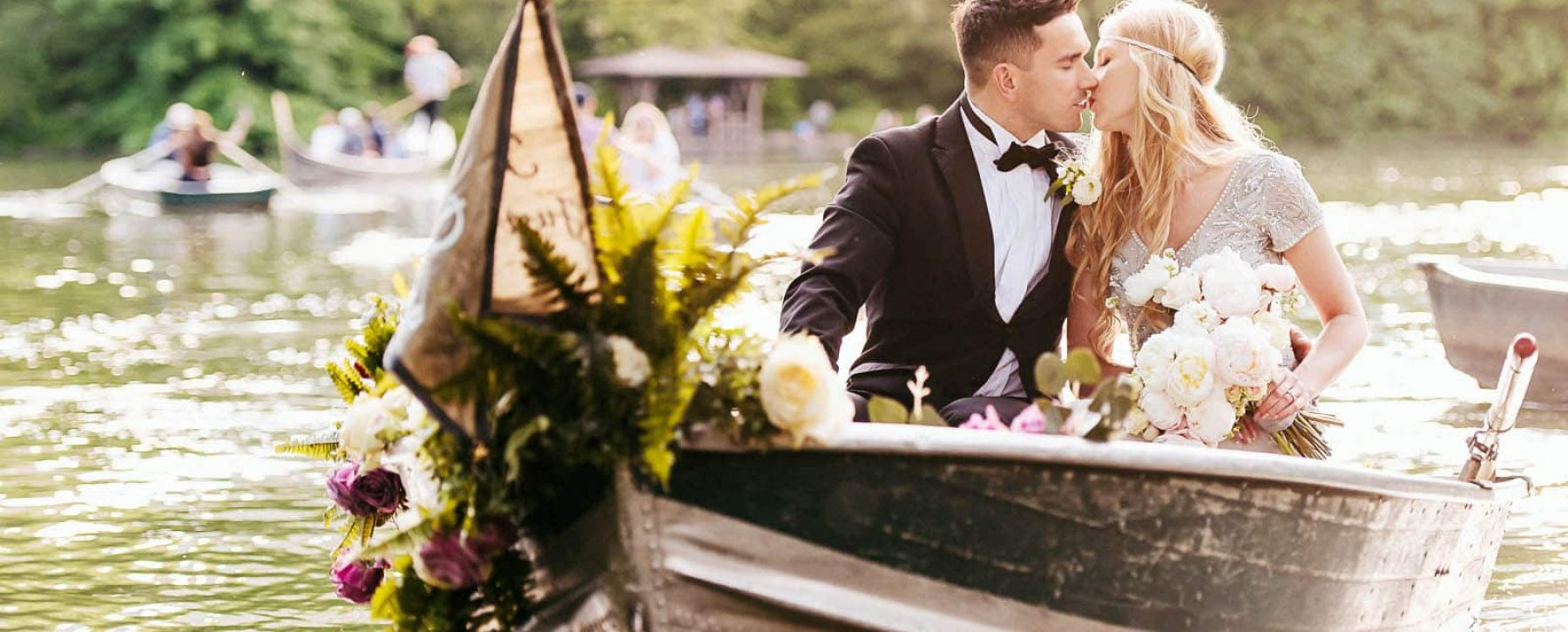New York Central Park Rowboat Elopement Portrait