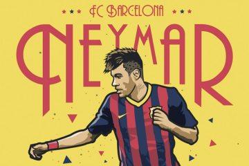 Kieran Carroll pôster Neymar