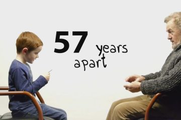 57 anos de diferença