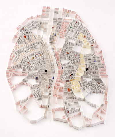 Esculturas de mapas por Matthew Picton