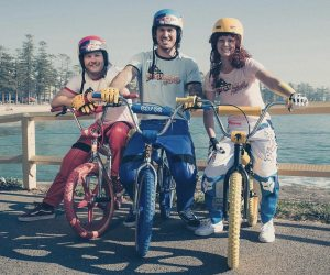 """Bicycle Motocross, tributo aos anos 80 feito por Corey """"Bowie"""" Bohan, Mike """"Hucker"""" Clark"""