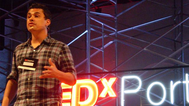 Giardelli em uma de suas participações no TEDx