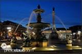 Lisbon fountain night