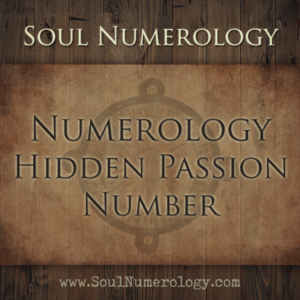 numerology hidden passion number