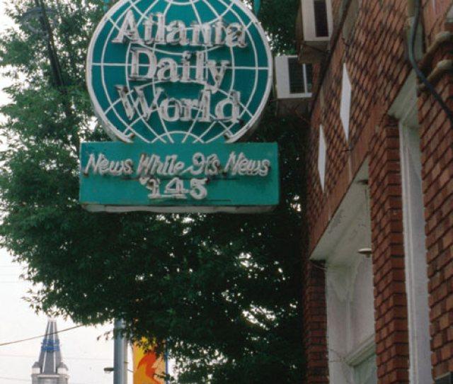 Atlanta Daily World Newspaper Office