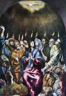 Descent of the Holy Spirit - El Greco (Detail)