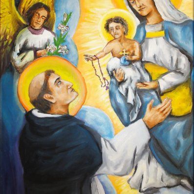 St Dominic and the Rosary