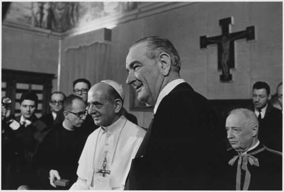 President Johnson and Paul VI