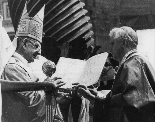 Pope Paul VI and Joseph Ratzinger