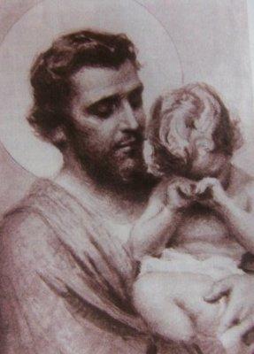 Joseph Consoling Child Jesus - Artist Unknown