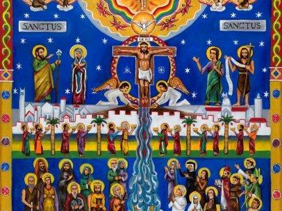 Sanctus Mural [Center Panel]