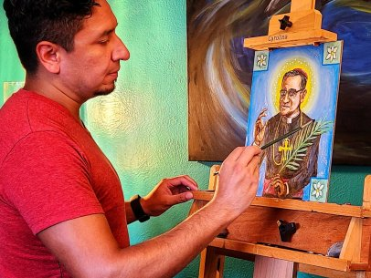 Painting of the Martyr, S. Óscar Romero