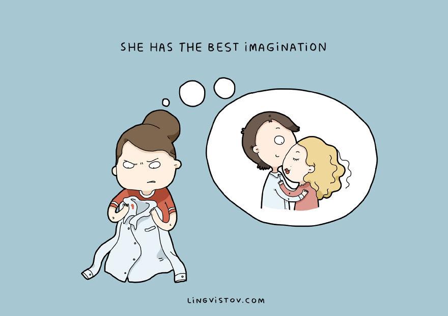 У нее отличная фантазия