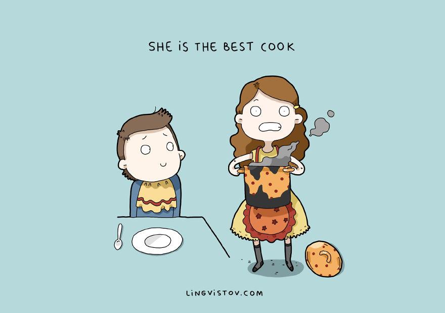 Она готовит лучше всех