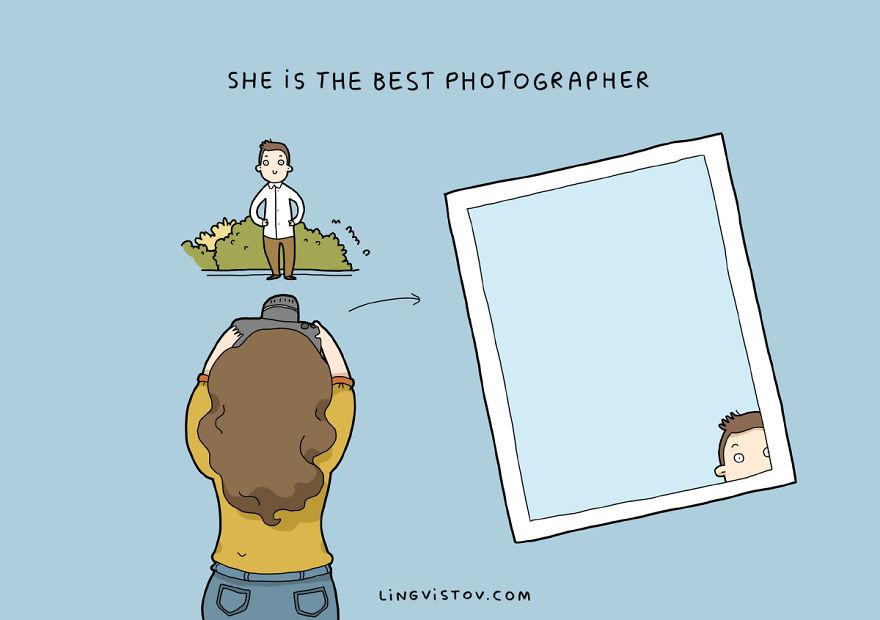 Она - лучший фотограф