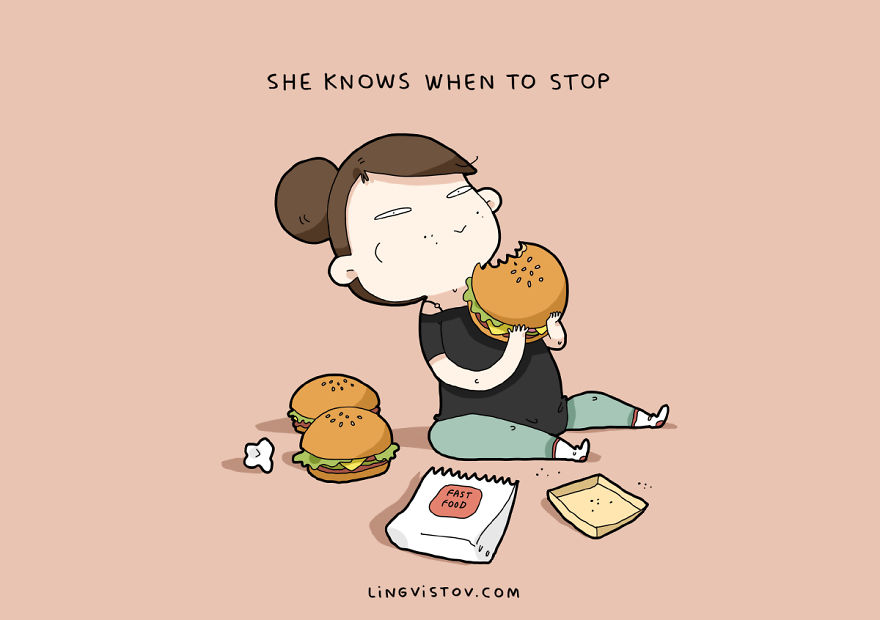 Она знает, когда остановиться