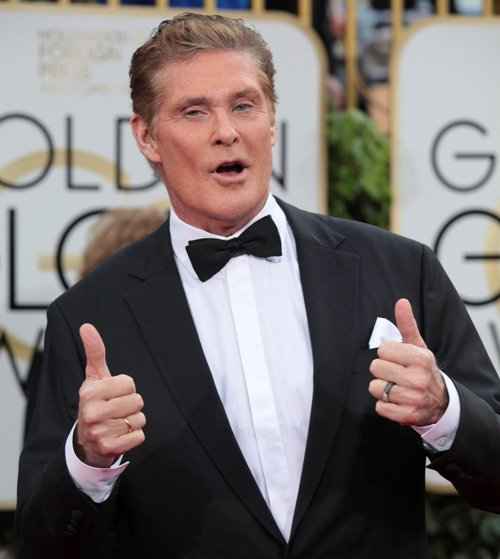 BEVERLY HILLS, CA - JANUARY 10: David Hasselhoff at The 73rd Golden Globe Awards at The Beverly Hilton in Beverly Hills, California on January 10, 2016. Credit: mpi200/MediaPunch Credit: MediaPunch/face to face