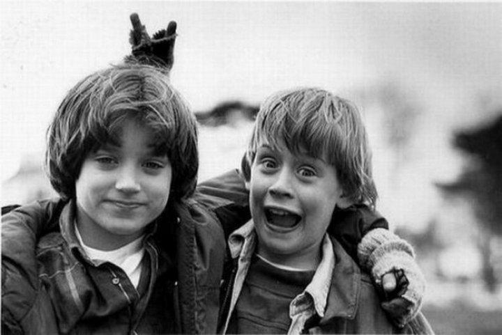 Элайджа Вуд и Маколей Калкин, 1993 г.