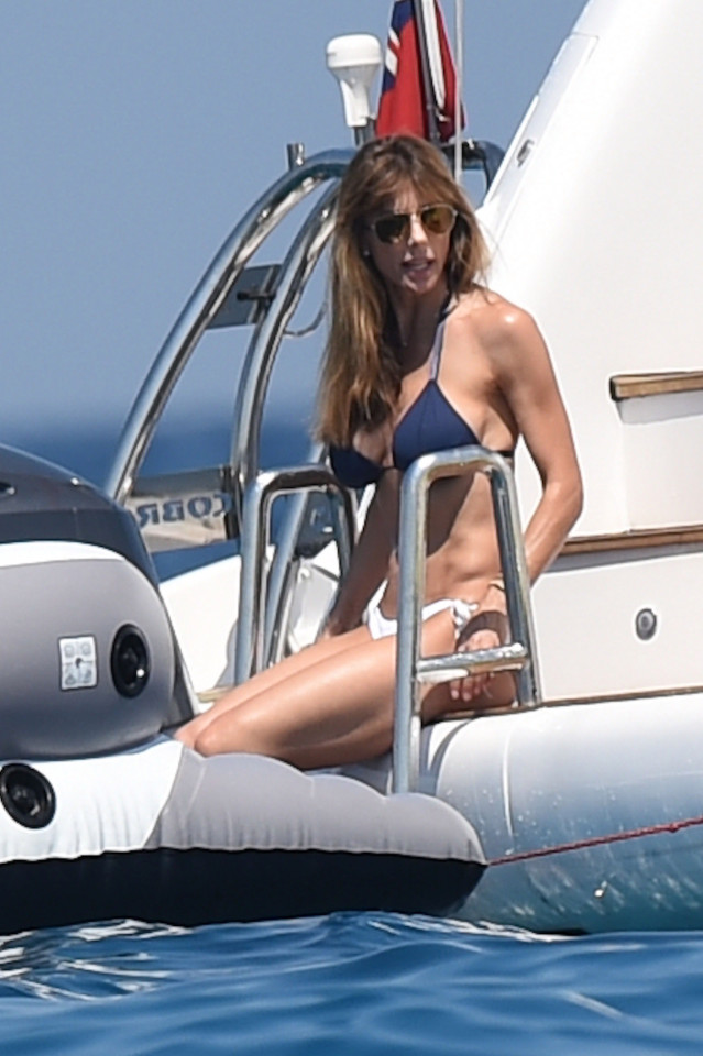 Sylvester Stallone's wife yachting in the South of France. Jennifer could be seen in the sea. Ref: SPL1316255 100716 Picture by: Neil Warner / Splash News Splash News and Pictures Los Angeles: 310-821-2666 New York: 212-619-2666 London: 870-934-2666