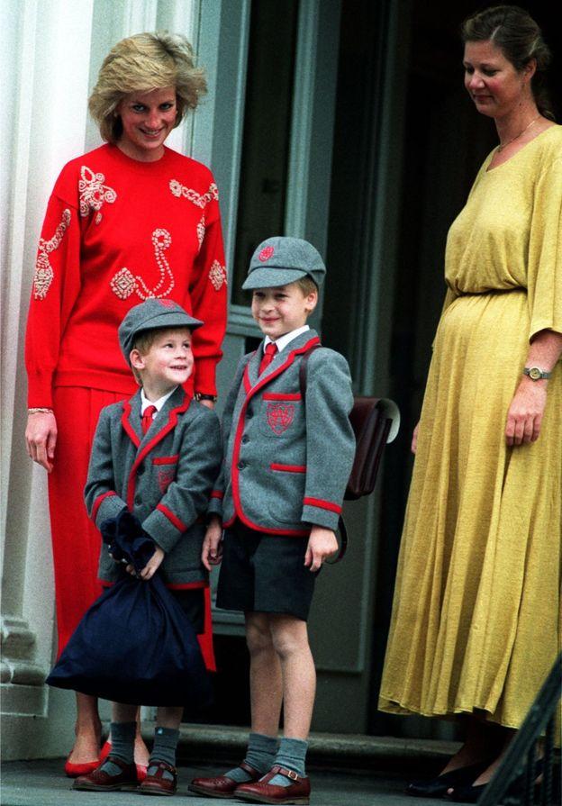 Принцесса Диана с Уильямом и Гари
